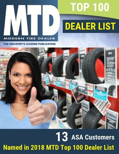 13 ASA Customers Named in 2018 MTD Top 100 Dealer List